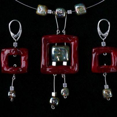 """""""Art Nouveau Bordeaux"""" (Set € 140,-)"""